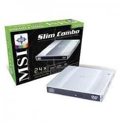 MSI - XS24 - MSI External Slim COMBO Writer - CD-RW/DVD-ROM - USB - External