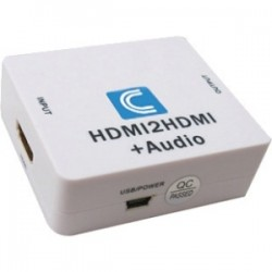 Comprehensive Cable & Connectivity - CP-HDA2N - Comprehensive HDMI to HDMI and Audio Converter - USB - HDMI Out - Amplifier