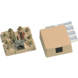 Suttle - 625A28SB52 - Suttle Mounting Box - Electric Ivory - Thermoplastic, Spring Tempered Copper