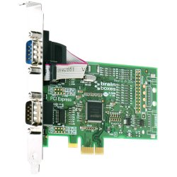 Brainboxes - PX-257-001 - Brainboxes PX-257 2-Port PCI Express Serial Adapter - 2 x 9-pin DB-9 Male RS-232 Serial