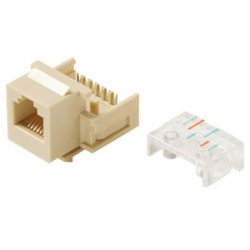Steren Electronics - 310-106BK-10 - Steren Telephone Keystone Modular Jack - RJ-11