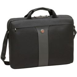 Victorinox / Swiss Army - WA-7444-14F00 - Swissgear Legacy Slimcase 17in laptop. Black - Polyester, Nylon - 13.5 Height x 3.5 Width x 17.5 Depth