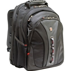 Victorinox / Swiss Army - WA-7329-14F00 - SwissGear LEGACY WA-7329-14F00 Carrying Case (Backpack) for 15.6 Notebook - Black - Polyester, Vinyl - 18 Height x 3.3 Width x 14 Depth