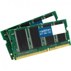 AddOn - AA1066D3S7K2/8G - AddOn JEDEC Standard 8GB (2x4GB) DDR3-1066MHz Unbuffered Dual Rank 1.5V 204-pin CL7 SODIMM - 100% compatible and guaranteed to work