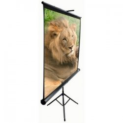 "Elite Screens - T92UWH - Elite Screens T92UWH Tripod Portable Tripod Manual Pull Up Projection Screen (92"" 16:9 Aspect Ratio) (MaxWhite) - 45"" x 80"" - 92"" Diagonal"