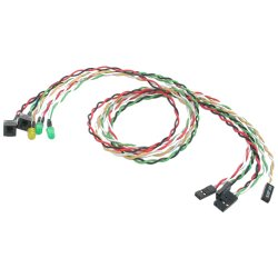 StarTech - BEZELWRKIT - StarTech.com Replacement Power Reset LED Wire Kit for ATX Case Front Bezel