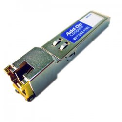 AddOn - J8177C-AO - AddOn HP J8177C Compatible 1000Base-TX SFP Transceiver (Copper, 100m, RJ-45) - 100% application tested and guaranteed compatible