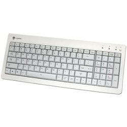 Buslink Media - KR-6820E-WH - I-Rocks KR-6820E Compact USB Keyboard - USB - 104 Keys - White