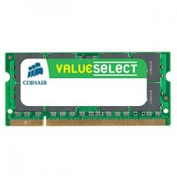 Corsair - VS8GSDSKIT800D2 - Corsair Value Select 8GB DDR2 SDRAM Memory Module - 8GB (2 x 4GB) - 800MHz DDR2-800/PC2-6400 - DDR2 SDRAM - 200-pin SoDIMM