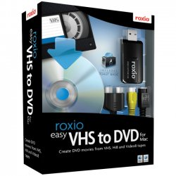 Corel - 243100 - Roxio Easy VHS to DVD with USB 2.0 TV/Video Capture Device - Complete Product - 1 User - Utility - Standard - Box - Retail - CD-ROM - Mac, Intel-based Mac - English
