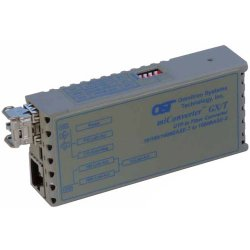 Omnitron - 1222-0-2 - miConverter 10/100/1000 Gigabit Ethernet Fiber Media Converter RJ45 SC Multimode 550m - 1 x 10/100/1000BASE-T; 1 x 1000BASE-SX; Univ. AC Powered; Lifetime Warranty