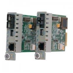 Omnitron - 8524-0 - iConverter 10/100/1000 Gigabit Ethernet Fiber Media Converter MT-RJ Multimode 550m Module - 1 x 10/100/1000BASE-T; 1 x 1000BASE-SX; Internal Module; Lifetime Warranty
