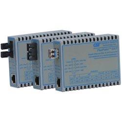 Omnitron - 4702-1 - FlexPoint 10/100/1000 Gigabit Ethernet Fiber Media Converter RJ45 SC Single-Mode 34km - 1 x 10/100/1000BASE-T; 1 x 1000BASE-LX; US AC Powered; Lifetime Warranty