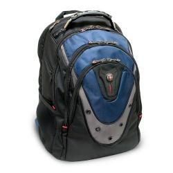 Victorinox / Swiss Army - GA-7316-06F00 - Swissgear IBEX 17 Backpack, Black & Blue - Polyester, Nylon - 19 Height x 3.3 Width x 15 Depth