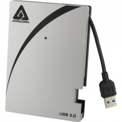 Apricorn - A25-3USB-2000 - Apricorn Aegis Portable A25-3USB-2000 2 TB 2.5 External Hard Drive - SATA - Portable - USB 3.0 - 5400rpm - 8 MB Buffer