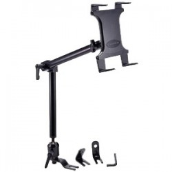 Amzer - AMZ95609 - Amzer Vehicle Mount for iPad, Tablet PC, e-book Reader - 7 to 12 Screen Support - Aluminum - Black