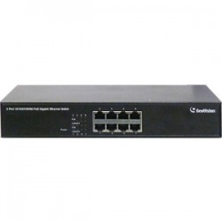 GeoVision - GV-POE0810 - GeoVision GV-POE0810 8-Port Gigabit 802.3at PoE Switch - 2 Layer Supported - Rack-mountable, Desktop - 2 Year Limited Warranty