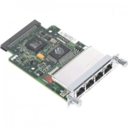 Cisco - WIC-4ESW-RF - Cisco - Ingram Certified Pre-Owned 4-Port Fast Ethernet WAN Interface Card - For Wide Area Network 4 RJ-45 10/100Base-TX Auto-sensing LAN/WAN - Twisted Pair10/100Base-TX