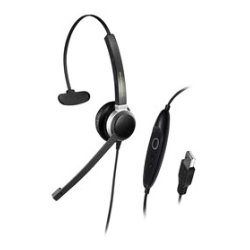Addasound - CRYSTAL SR2801 - ADDASOUND Crystal SR2801 Headset - Mono - Black - USB - Wired - Over-the-head - Monaural - Supra-aural - Noise Cancelling Microphone - Noise Canceling