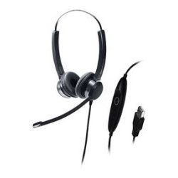Addasound - CRYSTAL SR2822 - ADDASOUND Crystal SR2822 Headset - Stereo - Black - USB - Wired - Over-the-head - Binaural - Supra-aural - Noise Canceling