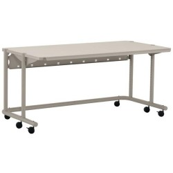 Ergotron - H24BK - Anthro 60 Wide AnthroCart - Rectangle Top - Four Leg Base - 4 Legs - 60 Table Top Width x 30 Table Top Depth - Assembly Required - Black