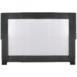 Panduit - C2HACERI1626B1 - Panduit Net-Contain Side Panel - Steel, Polycarbonate - Black - 1 Pack - 26 Height - 48 Width