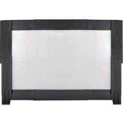 Panduit - C2HACERI2638B1 - Panduit Net-Contain Side Panel - Steel, Polycarbonate - Black - 1 Pack - 38 Height - 48 Width