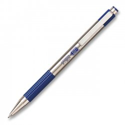 Zebra Pen - 27122 - Zebra Pen F-301 Ballpoint Pen - Fine Pen Point Type - Refillable - Blue Ink - Stainless Steel Barrel - 2 / Pack