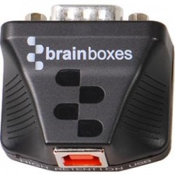Brainboxes - US-235 - Brainboxes Ultra 1 Port RS232 USB to Serial Adapter - 1 x DB-9 Male Serial - 1 x Type B Male USB