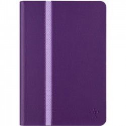 Belkin - F7N248B1C01 - Belkin Stripe Carrying Case (Folio) for iPad mini - Plum - Scratch Resistant Interior, Slip Resistant Interior - Suede Interior, MicroFiber Interior, Silicone Interior
