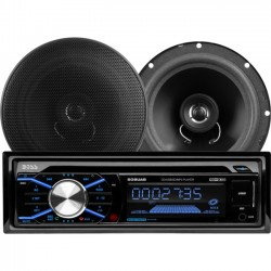 Boss Audio Systems - 656BCK - BOSS AUDIO 656BCK Package Includes 508UAB Single-DIN AM/FM CD Receiver With Bluetooth, USB and SD Memory Card Ports Plus One Pair of 6.5 inch Speakers - 1 Year Warranty