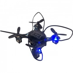 Odyssey Toys - ODY-7555BL - Odyssey Toys X-4 Nandrone - Nanodrone - Quadcopter - 2.4G Hz Control - 4-channel with Gyro - 360 Flips - 6-Axis Design with Fast Speed - Lights