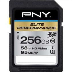 PNY Technologies - P-SDX256U395-GE - PNY Elite Performance 256 GB SDXC - Class 10/UHS-I (U3) - 95 MB/s Read