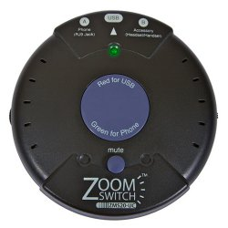 ZoomSwitch - ZMS20-UC - ZoomSwitch ZMS20-UC Headset Adapter for Phone and PC with Vol. and Mute