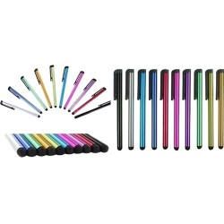 Zeepad - 9PK-STY - MYEPADS 9PC Stylus Pen - Assorted - Tablet, Cell Phone Device Supported - Capacitive Touchscreen Type Supported