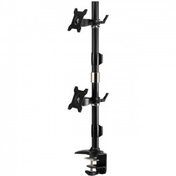 Amer Networks - AMR2CV - Amer Mounts Clamp Based Vertical Dual Monitor Mount for two 15-24 LCD/LED Flat Panels - Supports up to 17.6lb monitors, +/- 20 degree tilt, and VESA 75/100