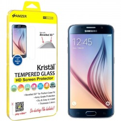 Amzer - AMZ97630 - Amzer Kristal Tempered Glass HD Screen Protector for Samsung Galaxy S6 SM-G920F Transparent - Smartphone