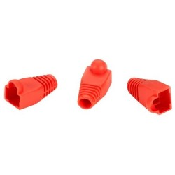 Black Box Network - FMT720 - Black Box Snagless Pre-Plugs - Connector Boot - Red - 50 Pack