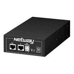 Altronix - NETWAY1EV - Altronix NetWay1EV Power over Ethernet Injector - 220 V AC Input - 1 10/100/1000Base-T Input Port(s) - 1 10/100/1000Base-T Output Port(s) - 85 W