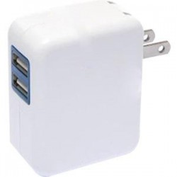 4xem - 4XUSBCHARGER2 - 4XEM 2 Port USB Wall Charger - 120 V AC, 230 V AC Input Voltage - 5 V DC Output Voltage - 2.10 A Output Current