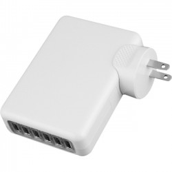 4xem - 4XUSBCHARGER6 - 4XEM 6 Port USB Wall Charger - 120 V AC, 230 V AC Input Voltage - 5 V DC Output Voltage - 2.10 A Output Current