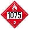 J.J. Keller - 3355J - 1075 (Class 2) Petroleum Gasses Liquefied or Liquefied Petroleum Gas Placard