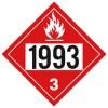 J.J. Keller - 3476J - 1993 (Class 3) Combustible Liquid Placard
