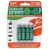 Dantona - ULGHP4AAA - UltraLast(R) AAA UL Green High Power Rechargeable NiMH Batteries 800mAh 4-Pk
