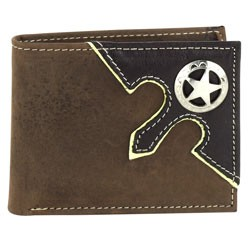 Other - 1707M04 - Bi-Fold Rodeo Wallet with Texas Star Concho