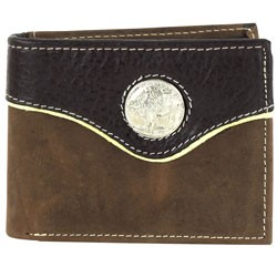 Other - 1708M01 - Bi-Fold Rodeo Wallet with Buffalo Nickle Concho