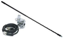 Solarcon - 214B - 4' Top Loaded Fiberglass CB Antenna with Mirror Mount & Cable 750W