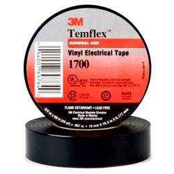"3M - 1776-3/4""X60FT - 3M 1776-3/4x60FT Vinyl Electrical Tape, Black, 3/4 x 60'"