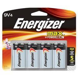 Energizer - 522BP-4H - Energizer MAX General Purpose Battery - Alkaline - 9 V DC - 4 Pack