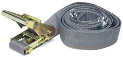 Kinedyne - 641601 - 2 x 16' Logistic Strap with Ratchet and Spring Fitting